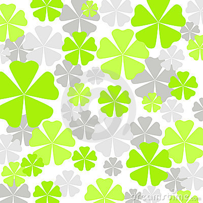 Green flowers pattern