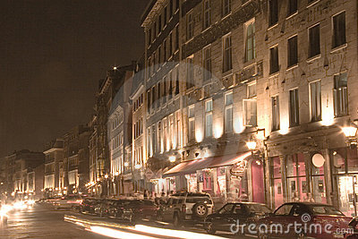 Night Scence of Old Montreal