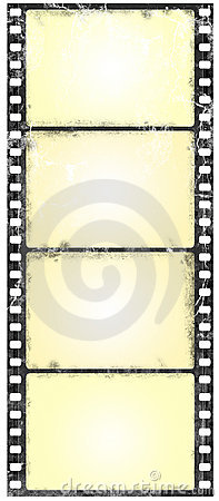 Grunge widescreen filmstrip