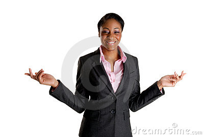 Happy and excited business woman