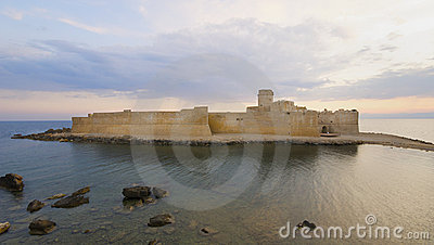 The Castle in the mediterranean sea