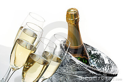 Champagne and ice bucket