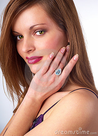The woman and jewelry
