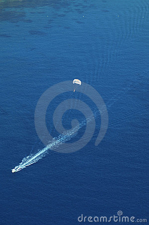 Aerial view of a parasail