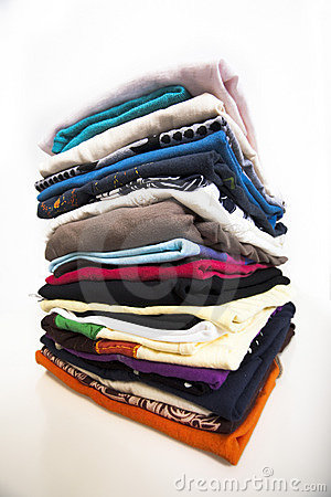 Pile of clothes isolated