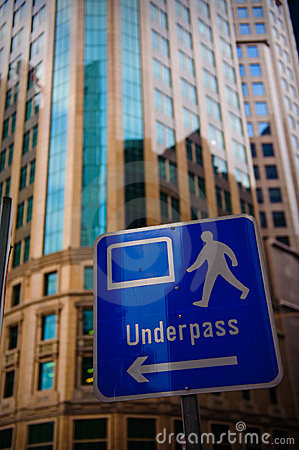 Underpass signage