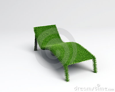 Relaxing chair grass overview