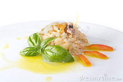Rice and shellfish