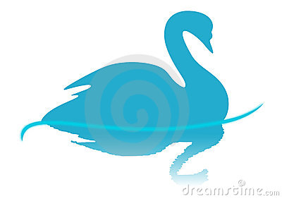 Blue Swan illustration