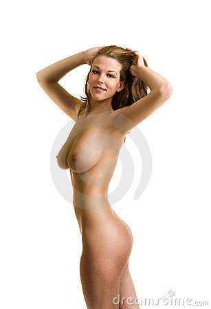 Nude female model in studio