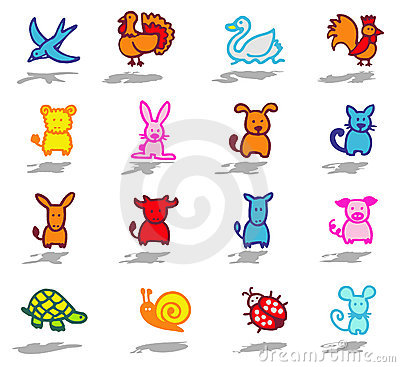 animals icons set 1