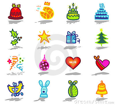 celebrations icons set 1