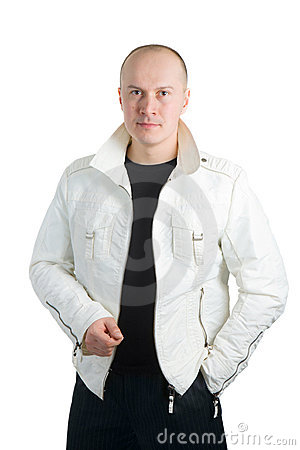 Photo of a man in white jacket