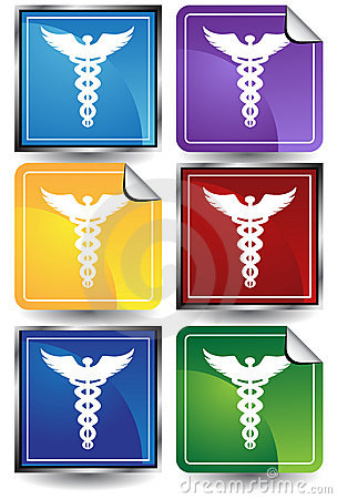 3D Sticker Set - Caduceus