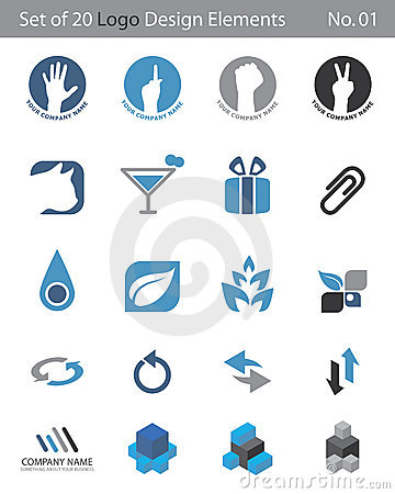 Set of 20 Logo Elements