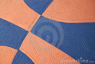 Orange and blue basketball