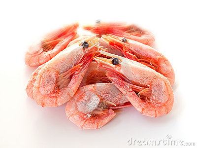 Boiled shrimp.