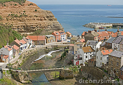 Staithes from Cow Bar.