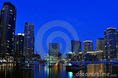 Dubai City Scape Night Scene 6