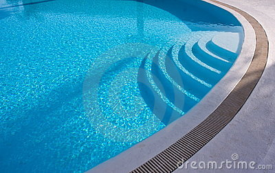 Stairs swimming pool