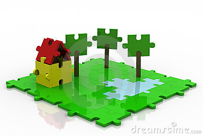 3D Puzzle Backyard Colorful