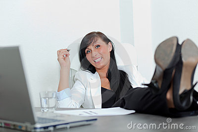 Relax office woman