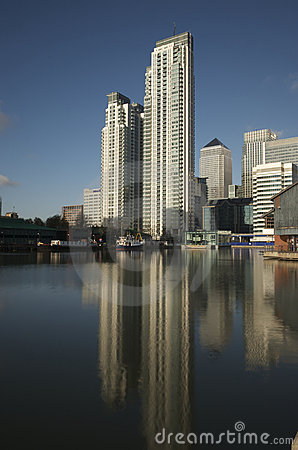 Canary Wharf skyscrapers