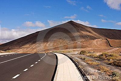 roads on the island of Lanzarote