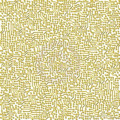 Electronic circuit board vector golden texture