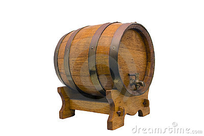 Miniature ornamental wine barrel or vat