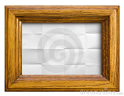 Frame with paper background