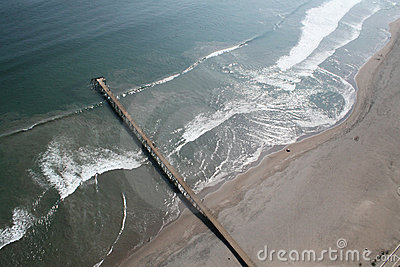 Aerial view of an old Pier