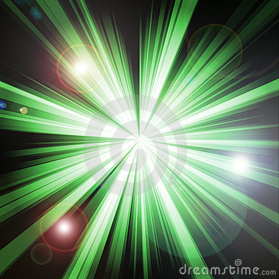 Green lightburst