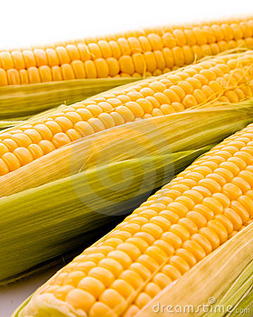 Three corns isolated