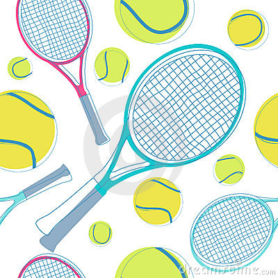 Tennis seamless pattern