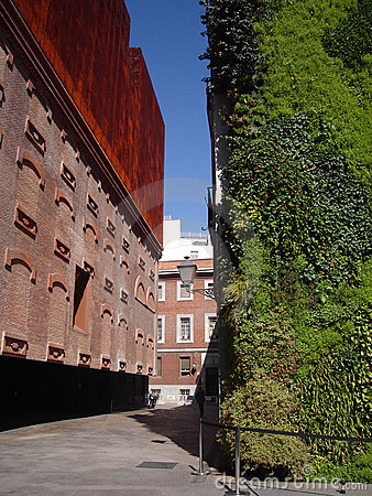 Caixa Forum Museum In Madrid With Vertical Garden