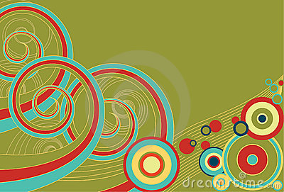 Retro Spirals and Circles