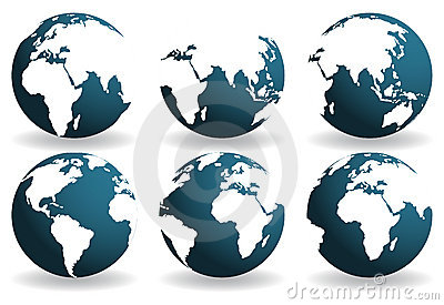 Earth over continents.