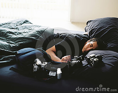 Exhausted Photographer