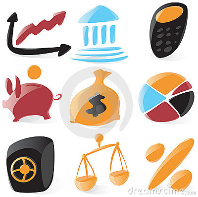 Smooth finance icons