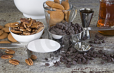 Ingredients to make rum balls