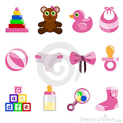 Girl baby object