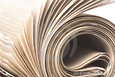 Newspaper Roll Macro Isolated