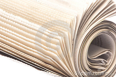Newspaper Roll Isolated