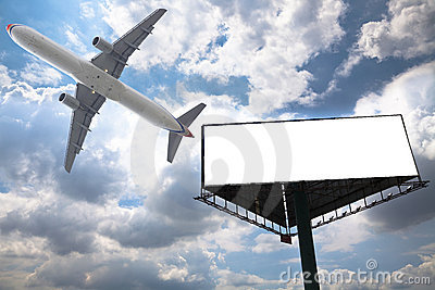 Billboard and airplane