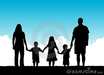 Family Togetherness Vector