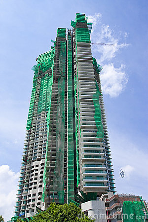 Under construction high building