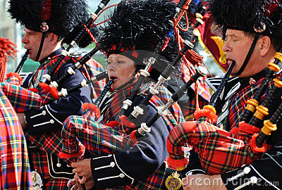 Bagpipers in Edmonton's Capital Ex parade