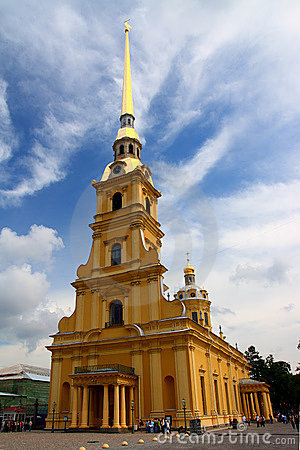 Cathedral temple in petropavlovskaya fortress