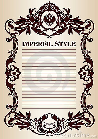 Imperial style frame